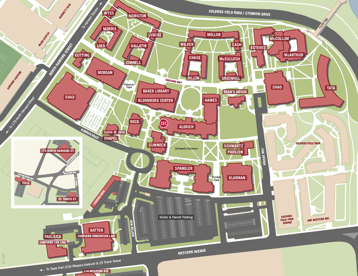 Hbs Campus Map Map   Harvard Business School