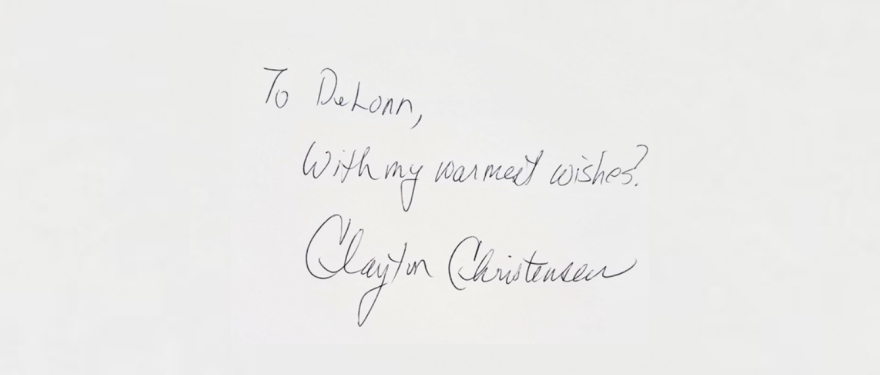 Clayton Christensen's Cold Call, by DeLonn Crosby, HBS Class of 2007