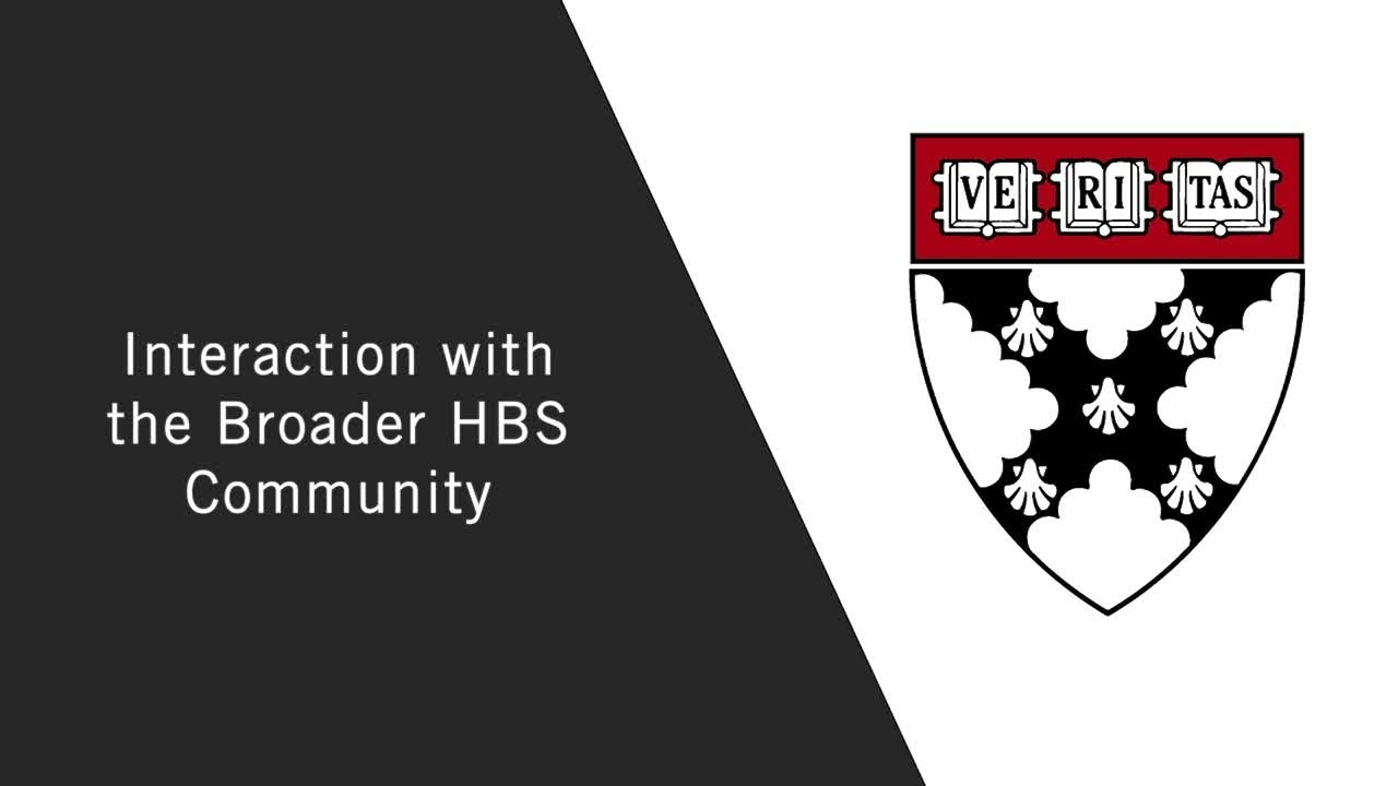 Interaction with the Broader HBS Community