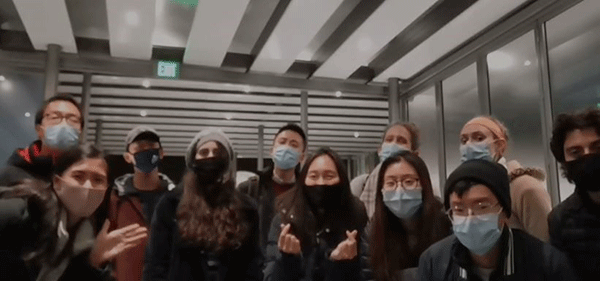 Group Photo with Masks