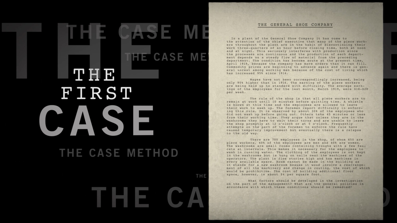 The HBS Case Method - MBA - Harvard Business School